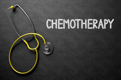 Chemotherapy - Text on Chalkboard. 3D Illustration. Stock Photos