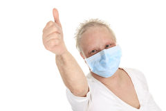 A chemotherapy woman wearing a medical mask Stock Images