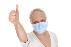 A chemotherapy woman wearing a medical mask Stock Photo