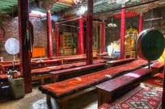Интерьер виска Chemrey budhist, Ladakh, Индии Стоковое Фото