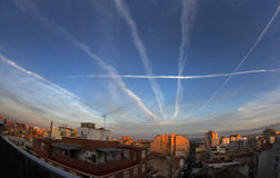 Chemtrails 013 Stock Foto