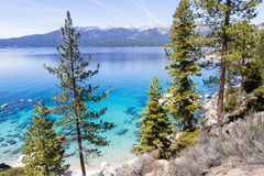 Chemtrails over Lake Tahoe Royalty Free Stock Photos