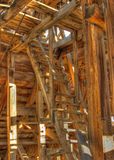 Chemung Mine. HDR photo. Stairway to upper floor. Chemung Mine Stock Image