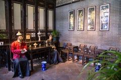 Chen Clan Academy binnen het oude materiaal om, Guangzhou-gebied, Ming en Qing Dynasties, de algemene familie van recep te herste Stock Afbeeldingen