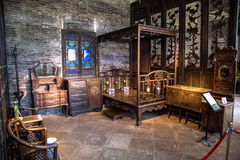 Chen Clan Academy inside the old material restored, Guangzhou area Ming and Qing Dynasties general family bedroom, and all kinds o. Guangzhou city tourist royalty free stock images