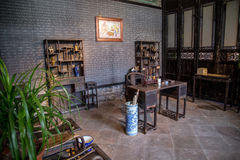 Chen Clan Academy inside the old material to restore the, Guangzhou region, Ming and Qing Dynasties general family reading room, a. Guangzhou city tourist royalty free stock photos