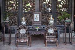 Chen Clan Academy, una atracción turística famosa en Guangdong, China, es los muebles de Ming y de Qing Dynasties, que es display foto de archivo libre de regalías