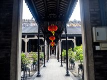 Chen-jia-ci, ancestral hall of Chen clan academy, CIRCA August 2. 017, Guangzhou, CHINA royalty free stock photography