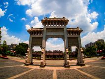 Chen-jia-ci, ancestral hall of Chen clan academy, CIRCA August 2. 017, Guangzhou, CHINA royalty free stock images