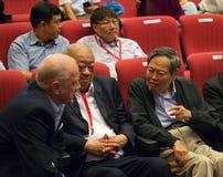 Chen-Ning Yang (CN-Yang) на конференции Yang-мельниц в Сингапуре, NTU Стоковое Фото