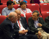 Chen-Ning Yang (CN-Yang) at Yang-Mills conference in singapore, NTU Stock Photo