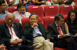 Chen-Ning Yang (CN-Yang) at Yang-Mills conference in singapore, NTU Royalty Free Stock Photo