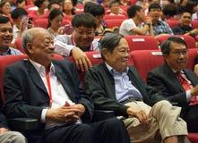 Chen-Ning Yang (NC-Yang) en la conferencia de los Yang-molinos en Singapur, NTU Fotos de archivo libres de regalías