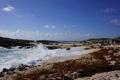 Chen Rio beach on Cozumel Royalty Free Stock Photos