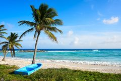 Chen Rio-het eiland van strandcozumel in Mexico royalty-vrije stock fotografie