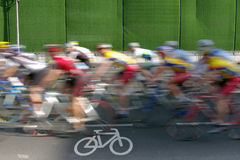 Chen Sie Rennen einen Kreislauf durchma Stockfoto