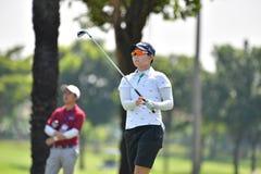 Chen Yu Ju van Taipeh in de Meester 2017 van PTT Thailand LPGA Royalty-vrije Stock Foto's