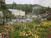 Chena Hot Springs semesterort, Alaska royaltyfri bild