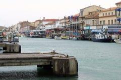 Chenal Maritime in Le Grau-du-Roi, France Stock Image