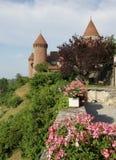 Chenaux castle, Estavayer-le-lac, Switzerland Royalty Free Stock Photo