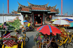 Cheng Hoon Teng Temple. The Cheng Hoon Teng temple is a Chinese temple practicing the Three Doctrinal Systems of Taoism, Confucianism, and Buddhism located at No Stock Photo