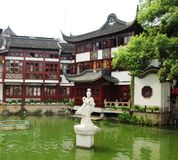 Cheng Huang Temple. The only traditional Chinese characterised garden located in downtown Shanghai, China stock photo