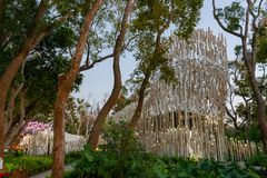 Cheng Loong Paper Pavilion van Taichung-Wereld Flora Exposition stock fotografie
