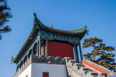 Chengde Mountain Resort in Putuo, Hebei Province by the Temple of the main building of the Red House Stock Images