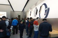 Chengdu öffnet zweites Apple speichern Stockfotos