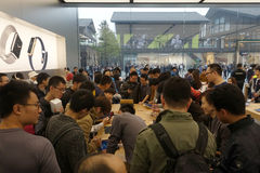 Chengdu öffnet zweites Apple speichern Stockfotografie