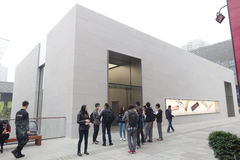 Chengdu öffnet zweites Apple speichern Stockfoto