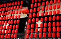 Chengdu, Κίνα: Κόκκινα κινεζικά φανάρια Στοκ Εικόνες