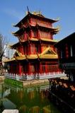 Chengdu, Κίνα: Παγόδα δράκων στη μακριά πόλη νερού της Tan Στοκ Εικόνες