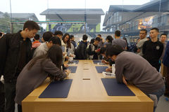Chengdu abre segundo Apple armazena Fotografia de Stock Royalty Free