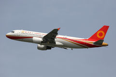 Chengdu Airlines Airbus A320 airplane Royalty Free Stock Photo