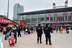 Chengdu-Bahnhof Stockfotos
