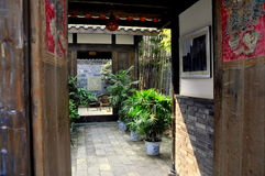 Chengdu, China: 18th Century House Courtyard Royalty Free Stock Images