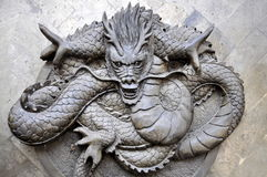 Chengdu, China: Bas Relief Dragon Stock Photography
