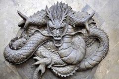 Chengdu, China: Bas Relief Dragon Stock Photography