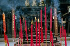 Chengdu, China: Burning Incense Sticks Royalty Free Stock Image