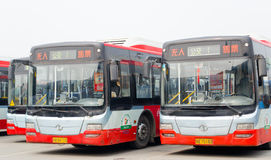 Chengdu, China: bus Stock Afbeeldingen