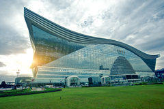 Chengdu, China, centers around the world, large construction appearance royalty free stock photography