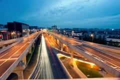 Chengdu, China, city overpass at night Stock Images