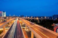 Chengdu, China, city overpass at night Stock Photos