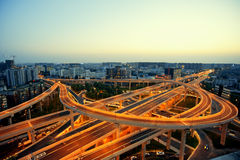 Chengdu, China, city overpass at night Stock Photo
