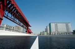 Chengdu, China, city viaduct stock image
