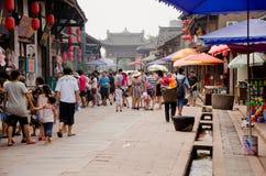 CHENGDU, CHINA 17 de agosto: Pueblo antiguo de Luodai del Hakka, el viejo Imagen de archivo libre de regalías