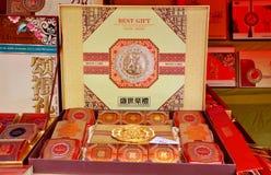Chengdu, China: De Vertoning van Mooncake Stock Afbeelding