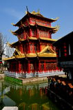 Chengdu, China: Dragon Pagoda at Long Tan Water Town Stock Photo