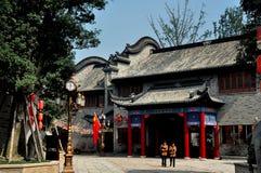 Chengdu, China: Elegant House at Long Tan Water Town Royalty Free Stock Images